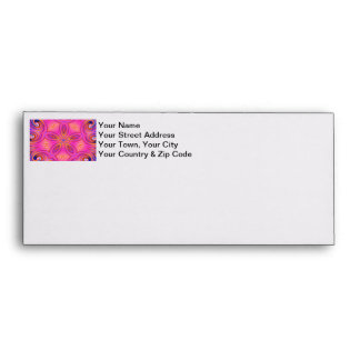 Colorful Fractal Kaleidoscope Flower Design Envelopes