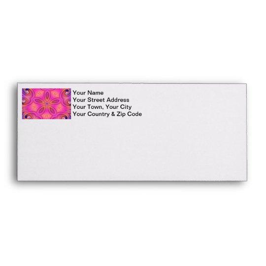 Colorful Fractal Kaleidoscope Flower Design Envelope