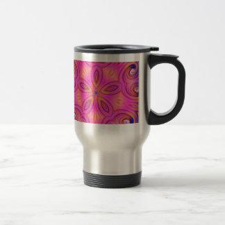 Colorful Fractal Kaleidoscope Flower Design Travel Mug