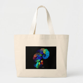 Colorful Fractal Large Tote Bag
