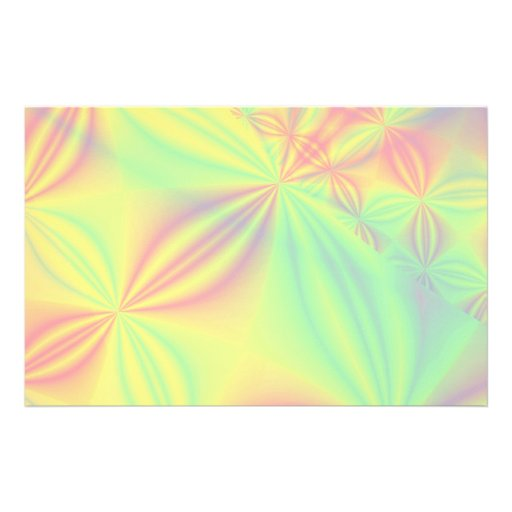 Colorful Fractal Pattern. Customized Stationery