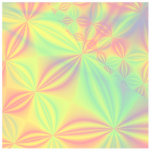 Colorful Fractal Pattern. Cut Outs