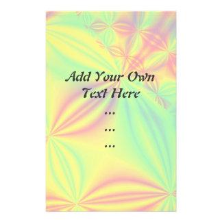Colorful Fractal Pattern. Custom Flyer