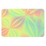 Colorful Fractal Pattern. Magnets
