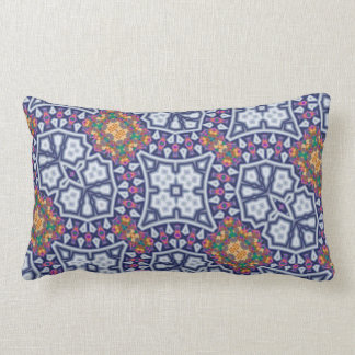 Colorful fractal pattern pillow