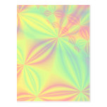 Colorful Fractal Pattern. Post Cards