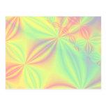 Colorful Fractal Pattern. Postcards