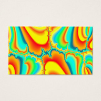Colorful fractal psychedelic custom business card