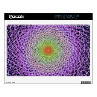 Colorful fractal netbook skins