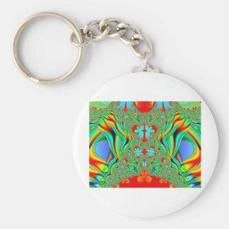 Colorful fractal skins keychain