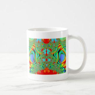 Colorful fractal skins mug