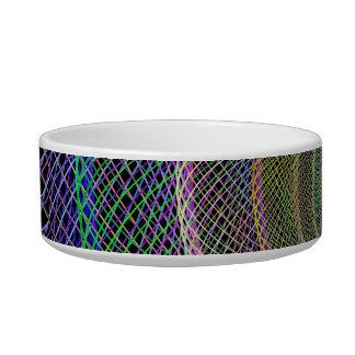 Colorful fractal spiral bowl