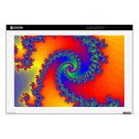 "Colorful Fractal Spiral: Decals For 17"" Laptops"