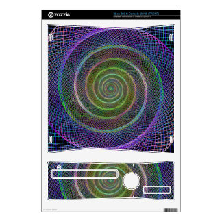 Colorful fractal spiral decals for xbox 360 s