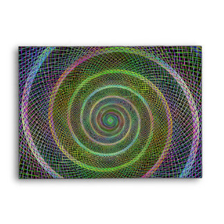 Colorful fractal spiral envelope