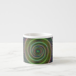Colorful fractal spiral espresso cup