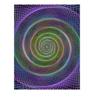 Colorful fractal spiral letterhead