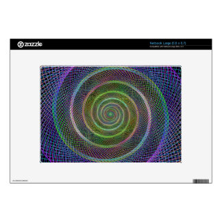 Colorful fractal spiral netbook skin