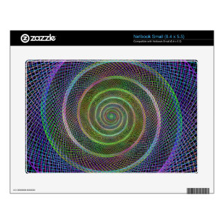 Colorful fractal spiral skins for small netbooks
