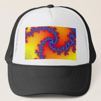 Colorful Fractal Spiral: Trucker Hat