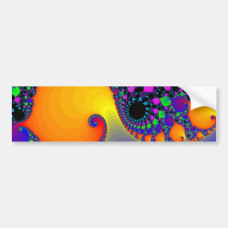 Colorful Fractal Spirals: Bumper Sticker