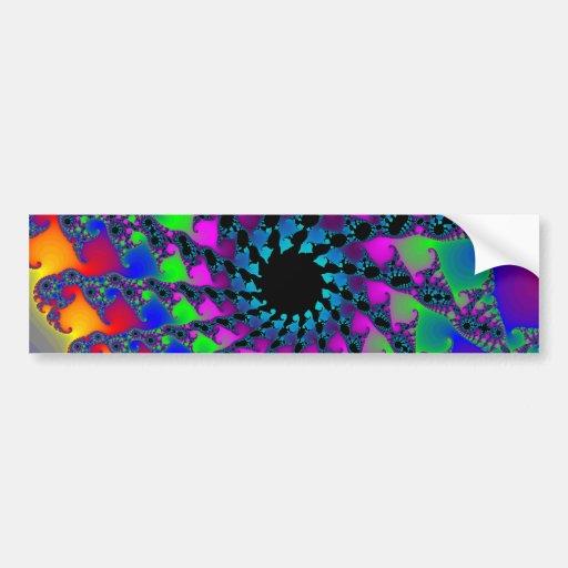 Colorful Fractal Spirals: Bumper Stickers