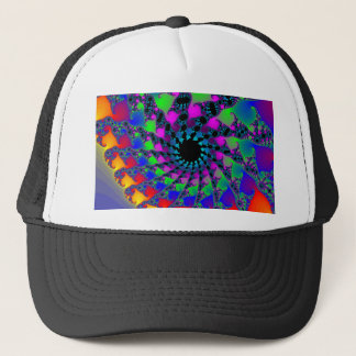Colorful Fractal Spirals: Trucker Hat