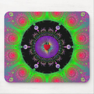 Colorful Fractal Sprial Mousepad
