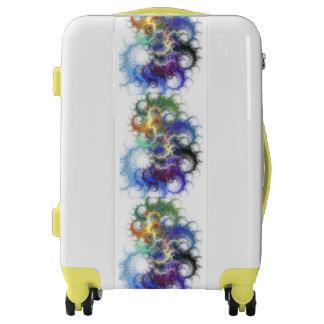 Colorful Fractal Swirl Design Luggage