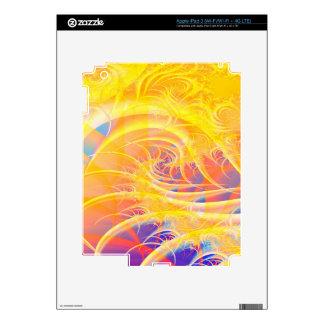 Colorful Fractal Vortex: iPad 3 Decals