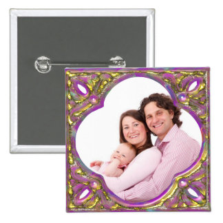 Colorful Frame 2 Inch Square Button