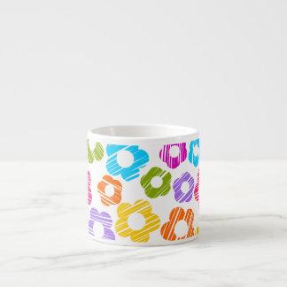 Colorful freehand drawn flowers espresso mug