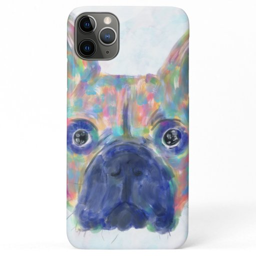 Colorful French Bulldog Brush Strokes Hand Paint iPhone 11 Pro Max Case