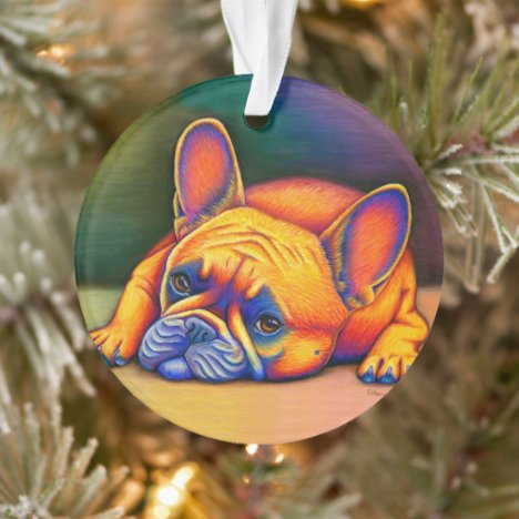 Colorful French Bulldog Dog Acrylic Ornament