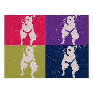 Colorful French Bulldog Poster