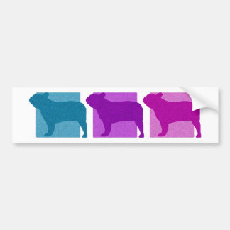 Colorful French Bulldog Silhouettes Bumper Sticker