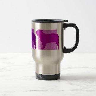 Colorful French Bulldog Silhouettes Mugs