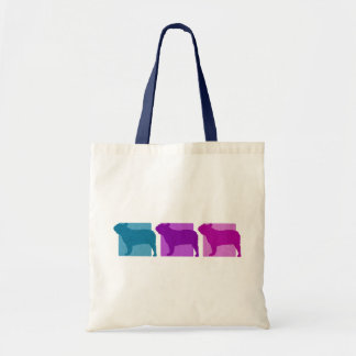Colorful French Bulldog Silhouettes Tote Bags