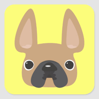 Colorful French Bulldog Stickers