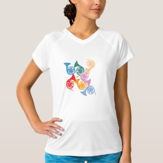Colorful French Horns T-Shirt