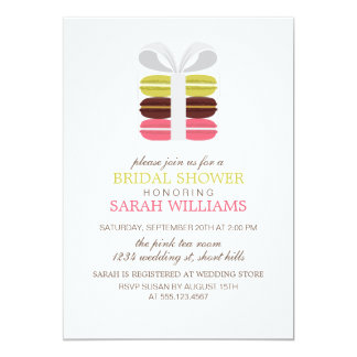 Colorful French Macarons 5x7 Paper Invitation Card