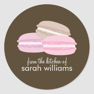 Colorful French Macarons Classic Round Sticker