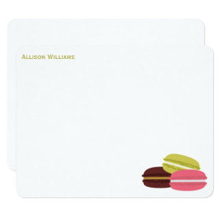 Colorful French Macarons Note Cards