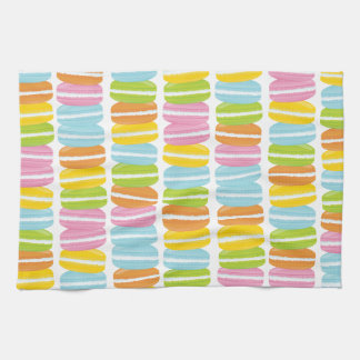 Colorful French Macarons Pattern Kitchen Towel