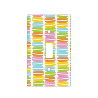 Colorful French Macarons Pattern Light Switch Covers