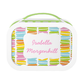 Colorful French Macarons Pattern Lunchbox
