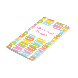 Colorful French Macarons Pattern Pocket Journal