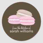 Colorful French Macarons Stickers