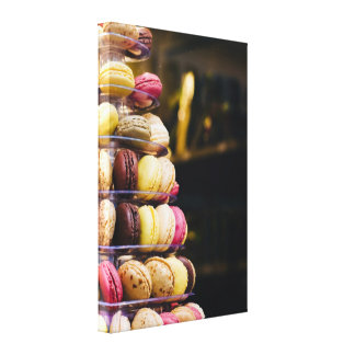 Colorful French Macarons Tower Photography Gallery Wrapped Canvas
