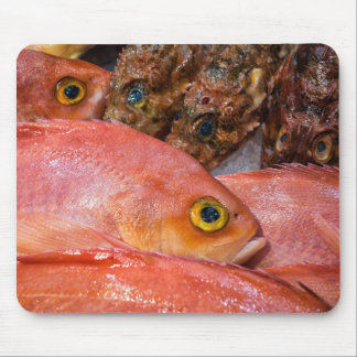 Colorful fresh fish on a market mouse pad